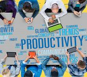 picture of productivity  - Productivity Vision Idea Efficiency Growth Success Solution Concept - JPG