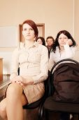 picture of middle class  - Group of womans sitting in education class - JPG