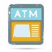 foto of automatic teller machine  - grunge ATM - JPG