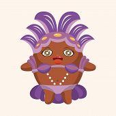stock photo of carnival rio  - Carnival Dancer Theme Elements - JPG