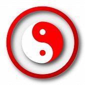 image of ying-yang  - Ying yang icon - JPG