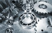 image of ball bearing  - cogwheels and ball - JPG
