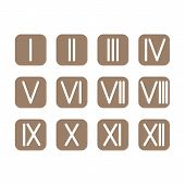 stock photo of roman numerals  - Set Roman numerals 1 - JPG