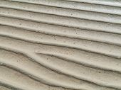 pic of atlantic ocean beach  - Patterns at low water in the sand of the beach near Costa Calma on Fuerteventura - JPG