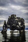 foto of petrified  - A rock in Iceland said to be a petrified troll - JPG