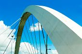 pic of straddling  - JK Bridge in Brasilia - JPG