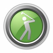 pic of foursome  - Image Icon Button Pictogram with Golfing symbol - JPG