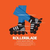 pic of inline skating  - Rollerblade or Roller Skates Vector Illustration - JPG