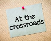 stock photo of crossroads  - At the crossroads Message - JPG