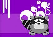 pic of raccoon  - little raccoon cartoon background in vector format very easy to edit - JPG