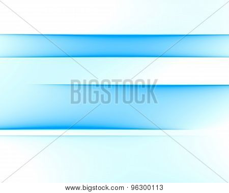 Abstract Blue Lines Element Isolated On White