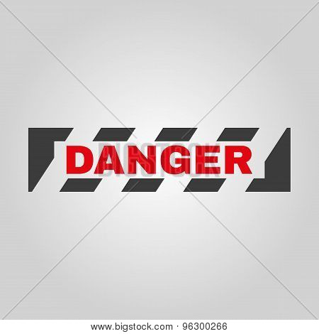 The danger icon. Caution and hazard, attention symbol. Flat