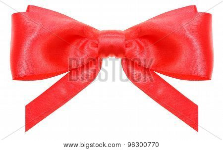 Symmetrical Red Bow With Vertically Cut Ends