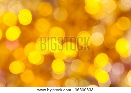 Colorful Yellow Blurred Christmas Lights
