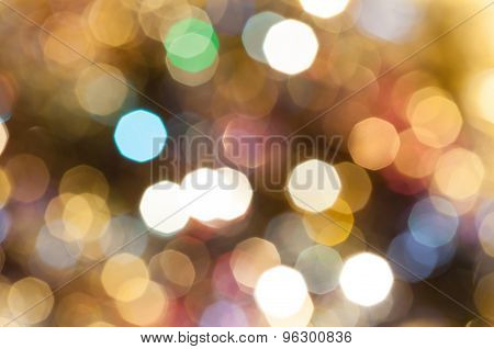 Colorful Brown Blurred Shimmering Christmas Lights