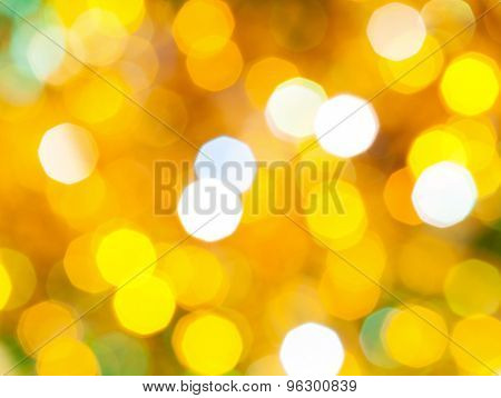Bright Yellow Green Shimmering Christmas Lights