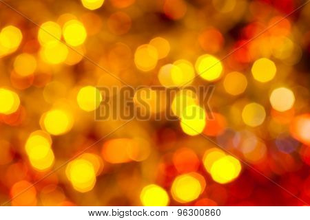 Dark Yellow And Red Flickering Christmas Light