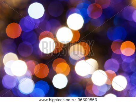 Blue, Red And Violet Shimmering Christmas Lights