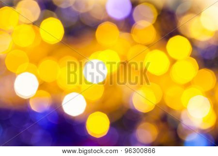 Dark Yellow And Violet Flickering Christmas Lights