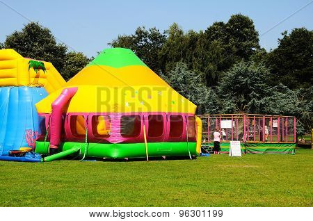 Bouncy Castle in Tamworth Park.