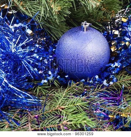 Violet Christmas Bauble, Tinsel, Xmas Tree 5