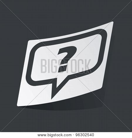 Monochrome question sticker