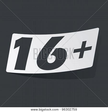 Monochrome 16 plus sticker