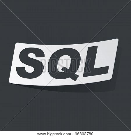 Monochrome SQL sticker