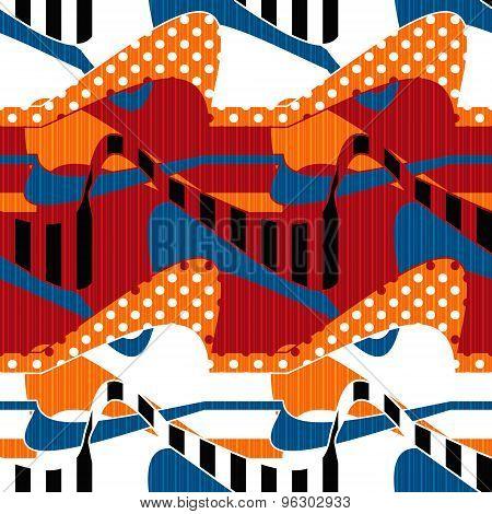 Patchwork Seamless Pattern Ornament Modern Background