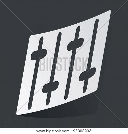 Monochrome faders sticker