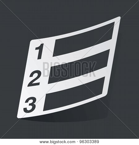 Monochrome numbered list sticker