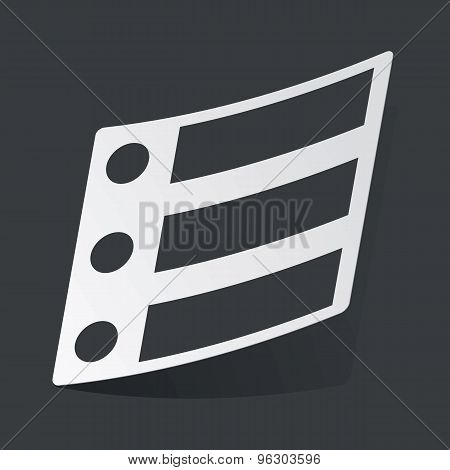 Monochrome dotted list sticker