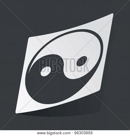 Monochrome ying yang sticker