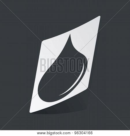 Monochrome water drop sticker
