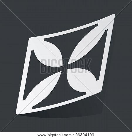 Monochrome maltese cross sticker