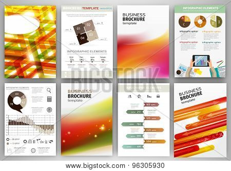 Red And Orange Business Backgrounds And Abstract Concept Infographics