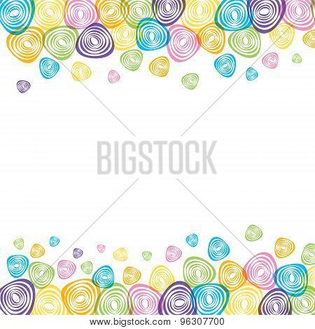 colorful abstract shape banner design vector