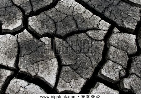 Dry cracked earth background clay desert texture