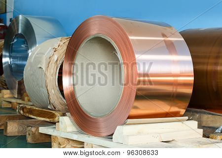 Rolls Of Copper Foil In Storage Room