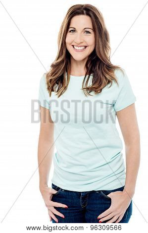 Relaxed Young Woman Posing