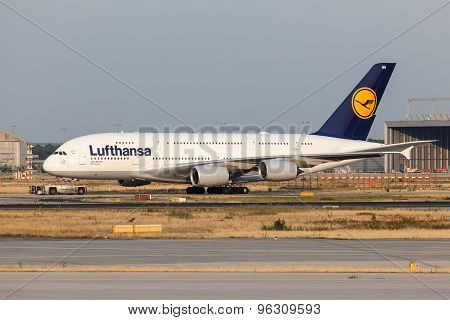 Airbus A380-800 Of The Luftnahsa Airline
