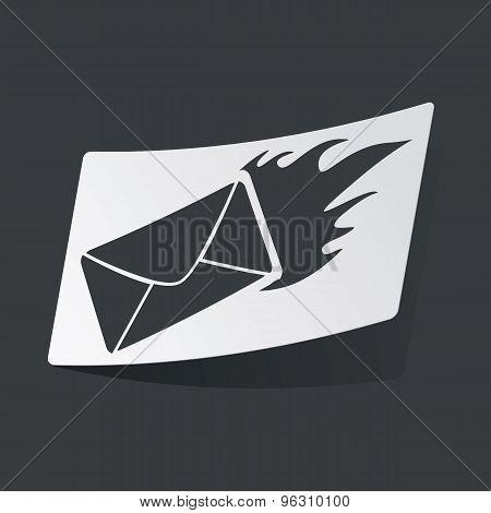 Monochrome burning letter sticker