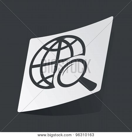 Monochrome global search sticker