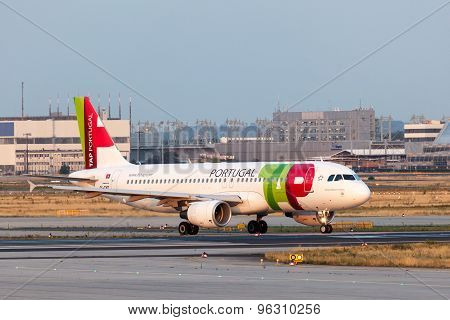 Airbus A320 Of The Tap Portugal Airline