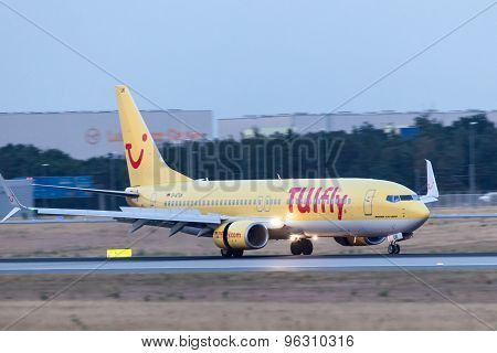 Boeing 737-800 Of Tuifly After Landing