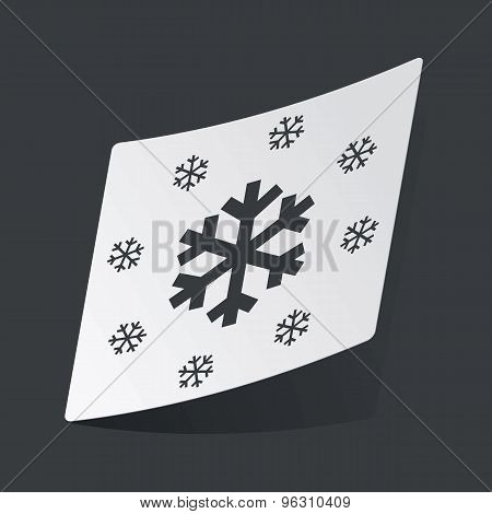 Monochrome snow sticker