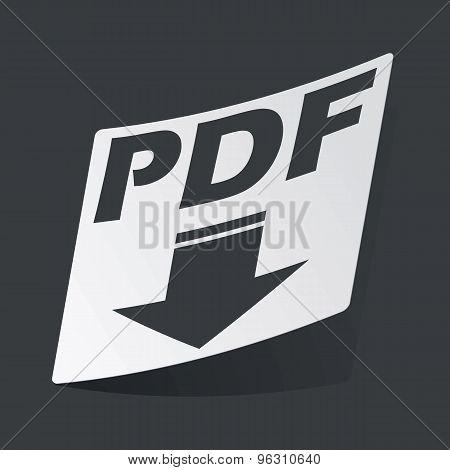 Monochrome PDF download sticker