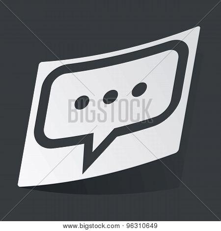 Monochrome typing sticker