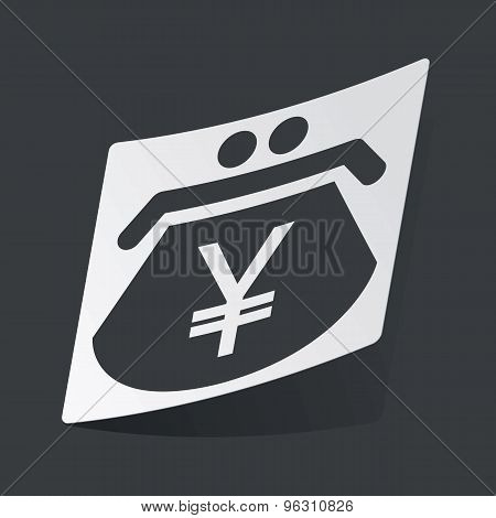 Monochrome yen purse sticker