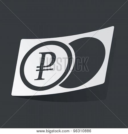 Monochrome ruble coin sticker
